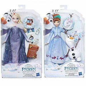 Кукла Hasbro Disney Princess Холодное сердце Рождество с Олафом в ассортименте Анна Эльза C3382EU4