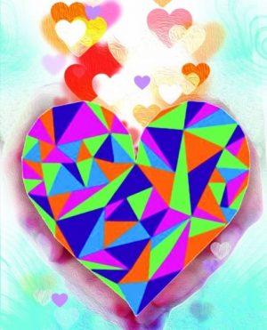 Алмазная картина Color Kit Сердце в Ваших руках М004