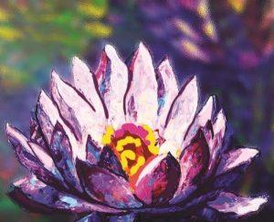 Алмазная картина Color Kit Сияние лотоса М007
