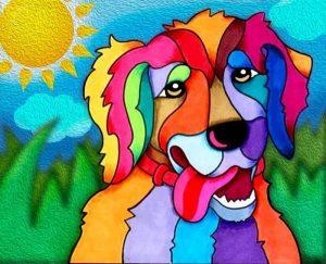 Алмазная картина Color Kit Солнечный пес М018