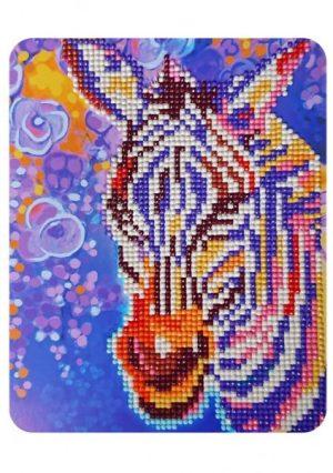 Алмазная картина Color Kit Фиолетовая зебра М017