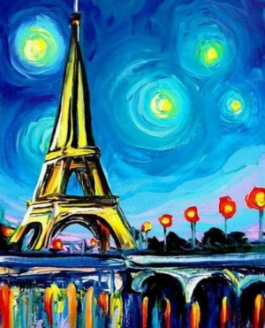 Алмазная картина Color Kit Огни Парижа МР009