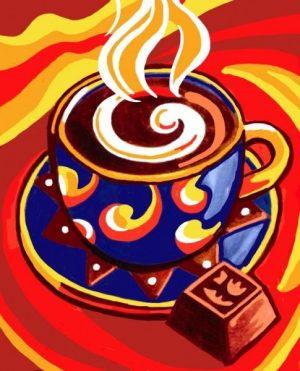 Алмазная картина Color Kit Кофейный аромат МР011