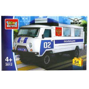 Конструктор Город мастеров Полиция УАЗ 452 64 детали SB-3012 4+