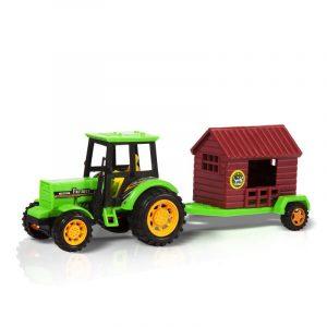 Фрикционная игрушка Handers Трактор с прицепом Перевозчик дома НАС1608-111