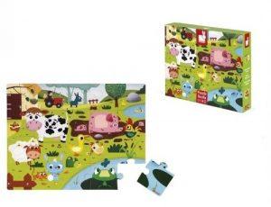 Пазл Janod Животные на ферме с разными текстурами 20 элементов J02772