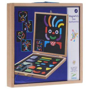Первый пазл DJECO Детская развивающая магнитная игра Гео человечки 03136