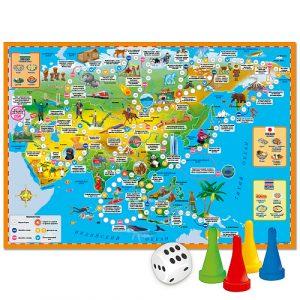 Настольняа игра Игра ходилка Вокруг света Азия 6+