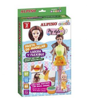 Набор пасты для лепки Волшебное тесто Мой стиль 2 куклы и набор декораций 42гр 3 цвета DP000166