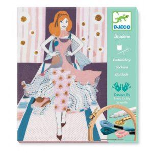 DJECO Набор для творчества Раскраска аппликация Модная неделя  09845