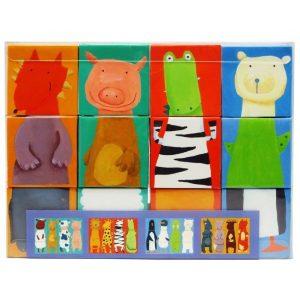 DJECO Кубики Животные 12 шт  08208