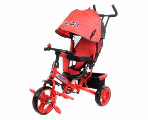 Велосипед трехколесный PILOT красный PT3R/2019