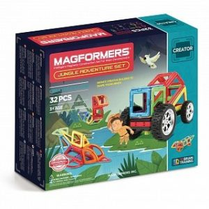 Магнитный конструктор Magformers Adventure Jungle Set 32P 703009