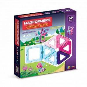 Магнитный конструктор Magformers 14 пастель 63096 704001