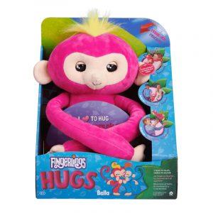 Интерактивная игрушка Fingerlings Обезьянка обнимашка розовая 3532