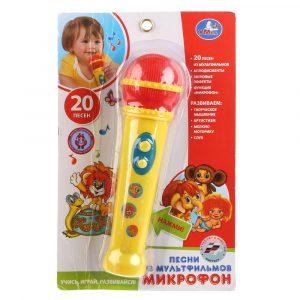 Микрофон Умка 20 песен из мультфильмов B1433764-R2 3+