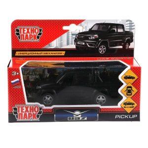 Машина Технопарк UAZ PICKUP черный матовый инерционный 12 см PICKUP-BE 3+