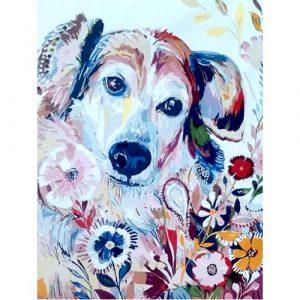 Картина по номерам Собака 40*50 см GX4298