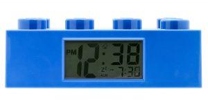 Лего будильник синий кирпичик 9002151