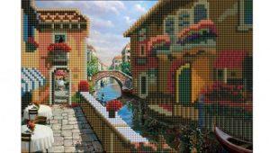 Алмазная мозаика Рыжий кот Летняя Венеция 26 цветов 20х30см без подрамника классическая ACF006