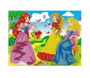 Алмазная мозаика Рыжий кот Принцессы на прогулке 17х22 см ASM004
