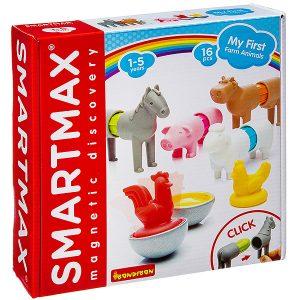 Магнитный конструктор BONDIBON SmartMax Мой первый набор животных фермы 16 деталей SMX 221 ВВ3145