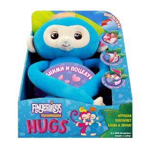 Интерактивная игрушка Fingerlings Обезьянка обнимашка голубая 3531