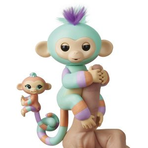 Интерактивная игрушка Fingerlings Обезьянка Дении с малышом 12 см 3544