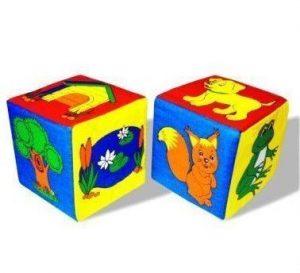 Мякиш кубики Чей домик