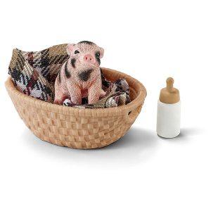 Набор SCHLEICH Мини свинья бутылочка 42294