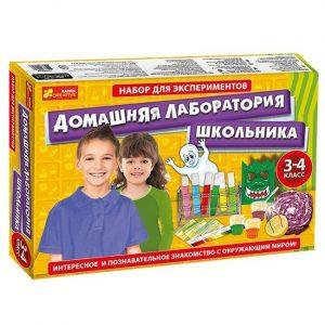 Набор для экспериментов Домашняя лаборатория школьника 12114064Р