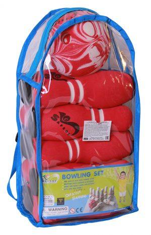 Игрушка боулинг 10 кеглей 1 мяч в сумке JBВ-07-2(B)