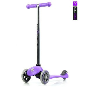 Самокат Y-Scoo RT Globber My free Fixed purple с блокировкой колес