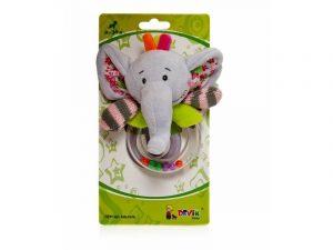 DEVIK Погремушка слоник 13 см  GH61372
