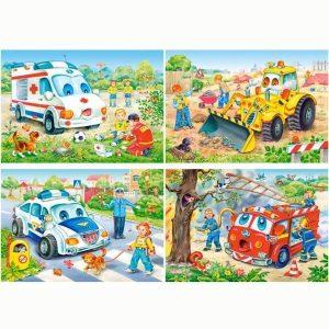 Пазлы Автомобили 24 детали Castor Land  А1-02405-ВР