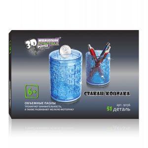 3D пазл Магический кристалл Стакан Копилка 51 деталь 9036 6+