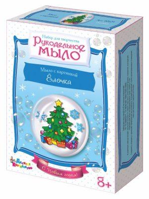 Набор для изготовления мыла Рукодельное мыло с картинкой Елочка С Новым Годом 02629