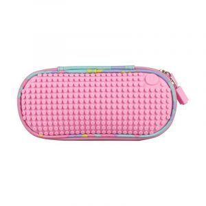 Пенал школьный пиксельный Super class pencil case Розовый WY-B012