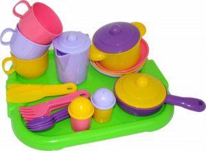 Набор детской посуды Хозяюшка с подносом на 3 персоны 4046