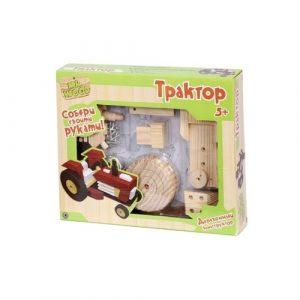 Деревянный конструктор Трактор 6213