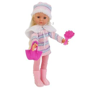Кукла Карапуз в зимней одежде 33 см 4 стиха 4 песенки озвученная WINTER-100-RU