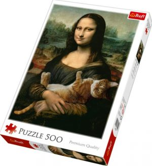 Пазл Trefl Mona Lisa and purring kitty 500 деталей 37294 3+