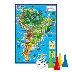 Настольняа игра Игра ходилка Вокруг света Южная Америка 6+