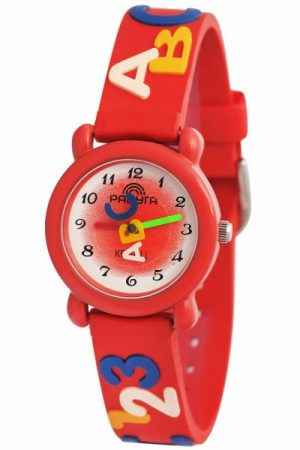 Часы наручные Радуга 102 красные буквы и цифры