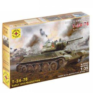 Игрушка Советский танк Т-34-76 выпуск начала 1943г 1:35 303529
