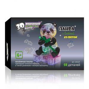 3D пазл Магический кристалл Панда с веткой со светом 58 деталей 9055А 6+