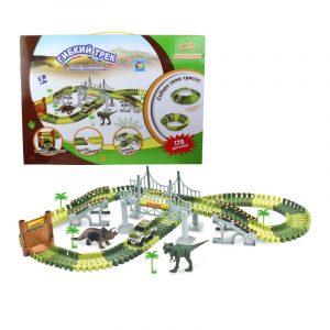Радиоуправляемая модель 1TOY Гибкий трек Динопарк мост 178 деталей Т13207