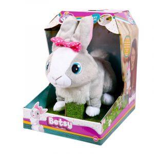 Игрушка интерактивная IMC Toys Кролик Betsy реагирует на голос прыгает шевелит ногами 95861