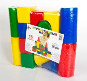 Выдувные кубики Строительный набор 15 элементов 01693