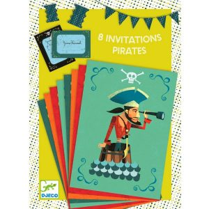 DJECO Пригласительные открытки Пираты 04774